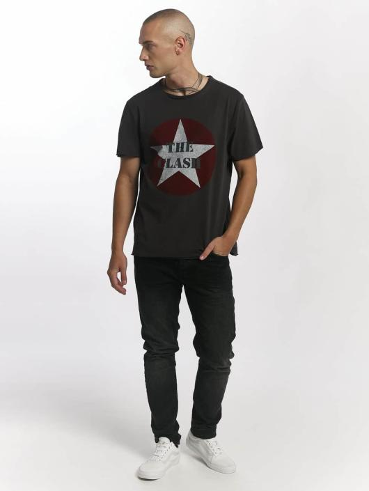 Amplified T-skjorter The Clash Star Logo grå