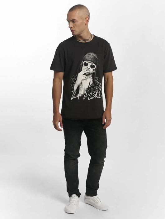 Amplified T-skjorter Kurt Cobain Photograph grå