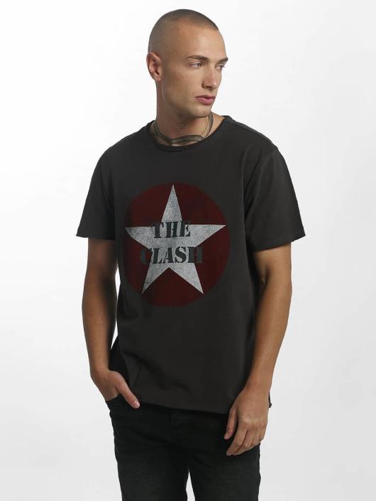 Amplified Tričká The Clash Star Logo šedá