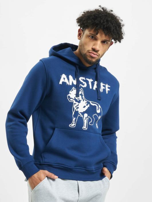 Amstaff Hoodie Logo blue