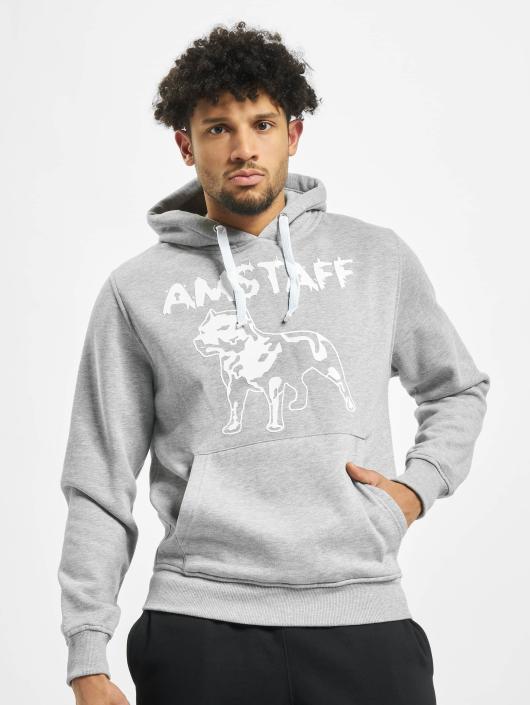 Amstaff Hoody Logo grau