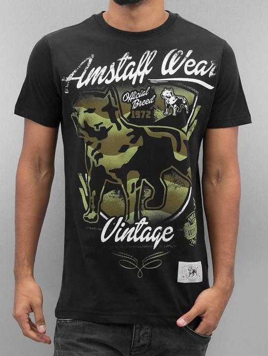 Amstaff T-Shirt Perro black