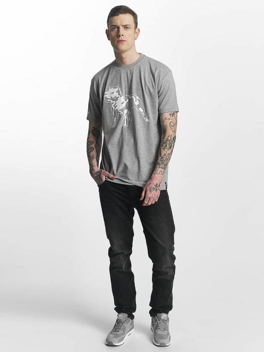 Amstaff t-shirt Logo grijs