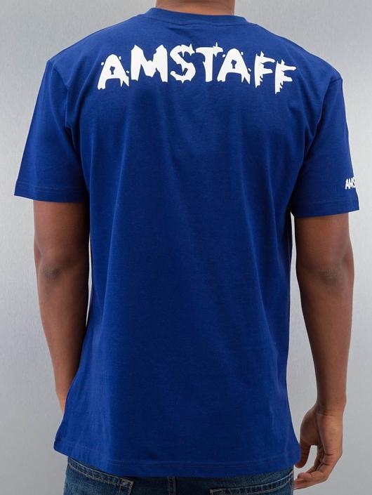 Amstaff Tričká Logo modrá