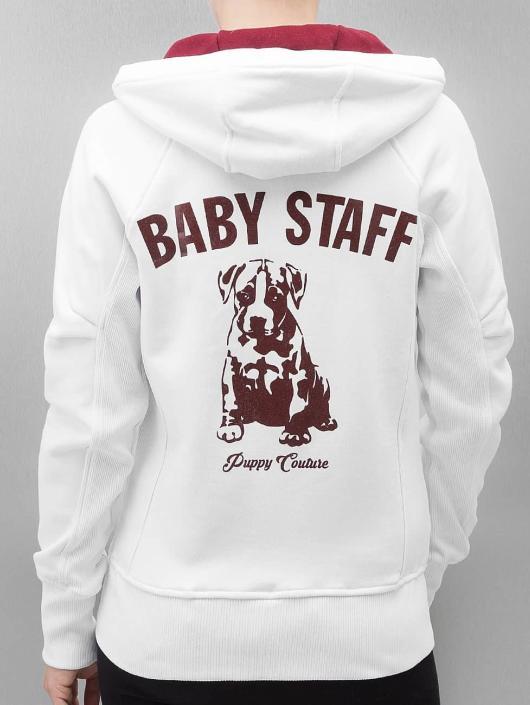 Babystaff Zip Hoodie Sideka hvit
