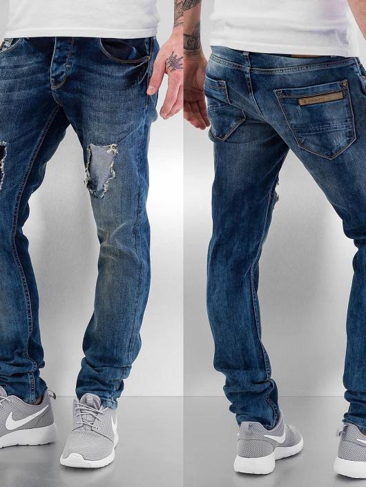 Bangastic Jean coupe droite Washed bleu