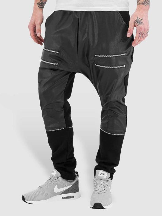 Bangastic Jogginghose Zip Leather schwarz