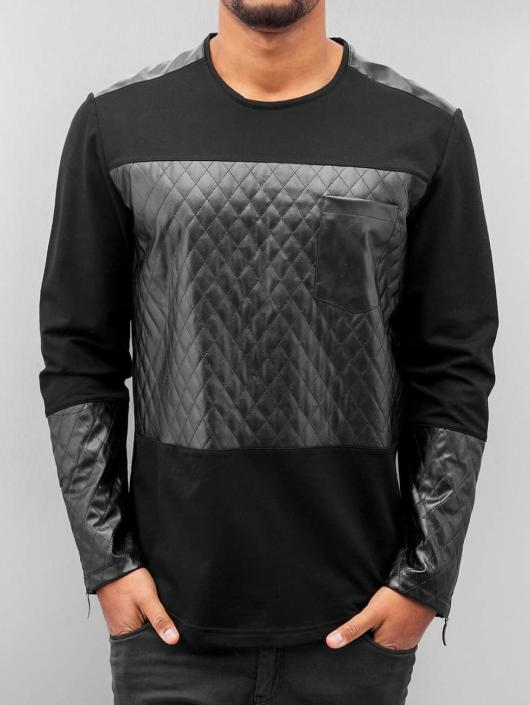 Bangastic Pullover Quilted schwarz