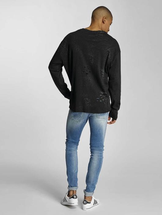 Bangastic Pullover Crinkle schwarz
