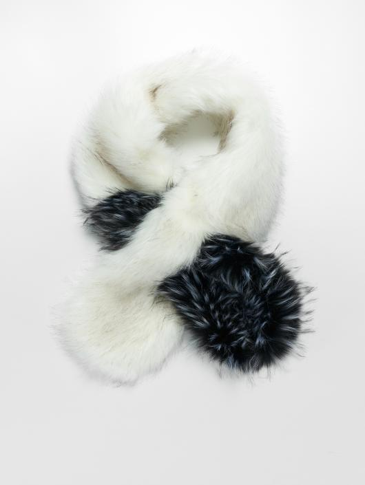 Bangastic sjaal Fake Fur wit
