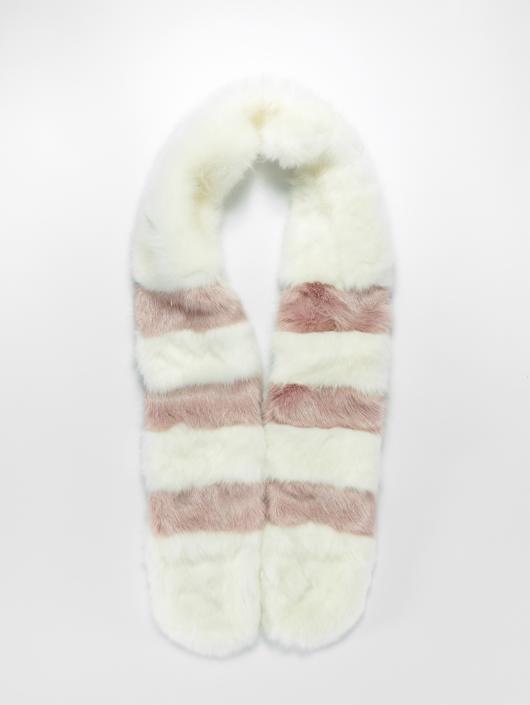 Bangastic sjaal Fake Fur wit