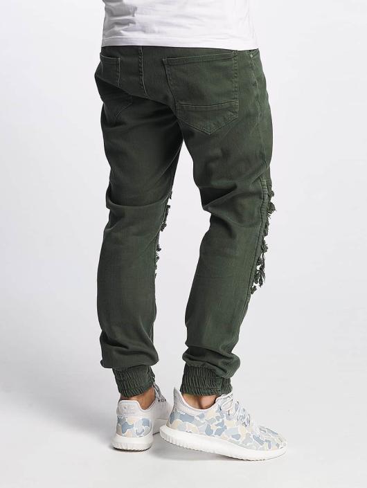 Bangastic Slim Fit Jeans BGJS254 olivová