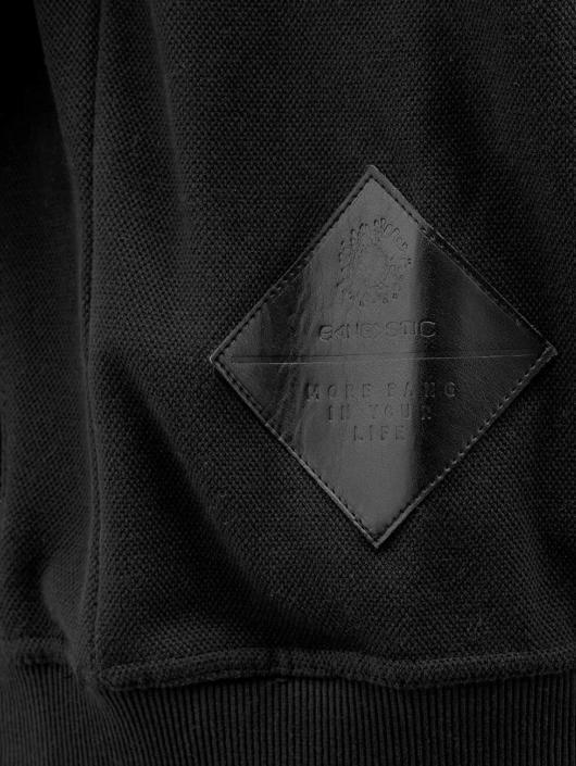Bangastic Sweat capuche zippé PU Sleeve noir
