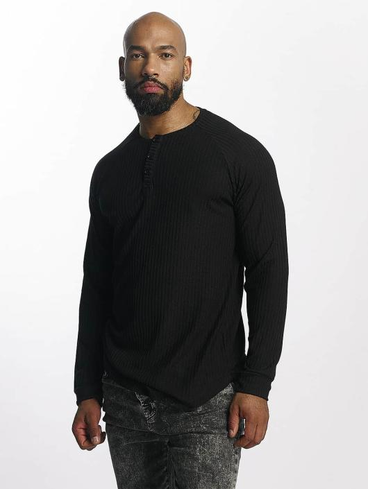 Bangastic T-Shirt manches longues Ripped noir