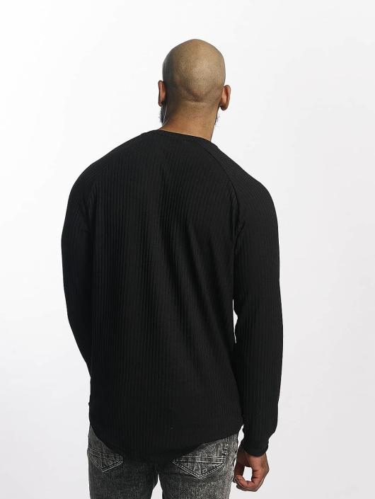 Bangastic Tričká dlhý rukáv Ripped èierna