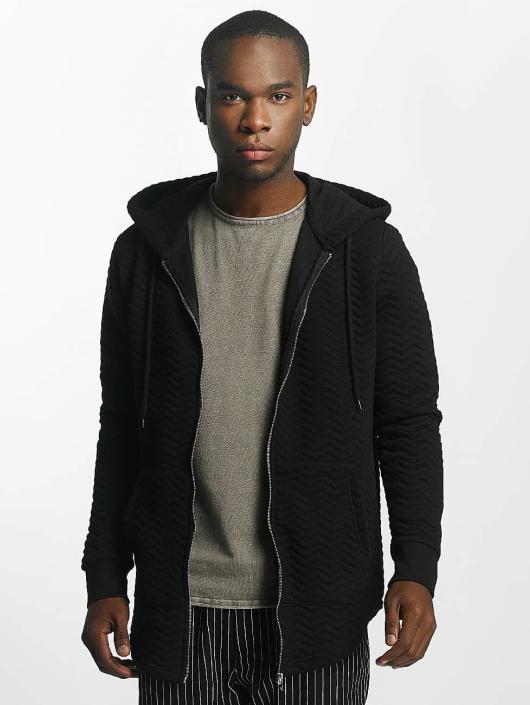 Bangastic Zip Hoodie Striped czarny