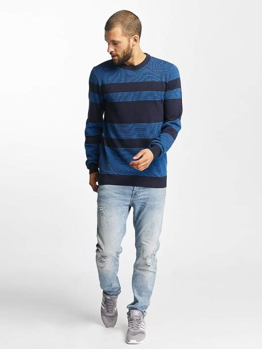 Bench Пуловер Structured Stripe синий