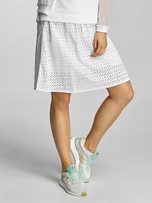 Bench Skirt Cotton Crochet white