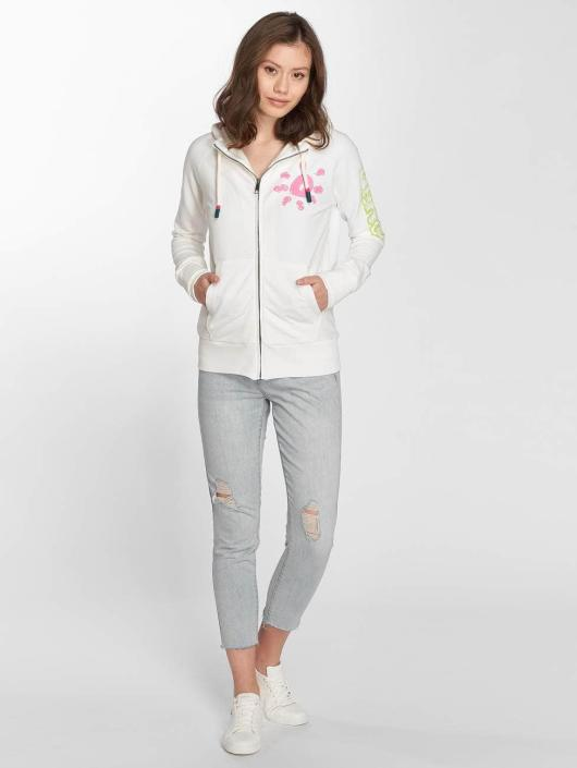 Bench Sweat capuche zippé Trough blanc
