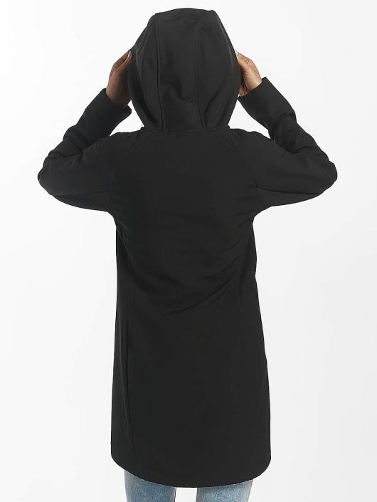 Bench Übergangsjacke Slim Longline Bonded schwarz