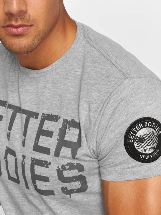 Better Bodies Tričká Basic Logo šedá