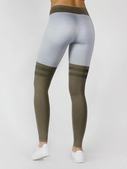 Beyond Limits Legging Overknee Stripe grau