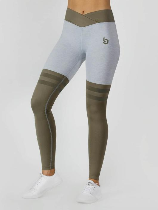 Beyond Limits Legging Overknee Stripe gris