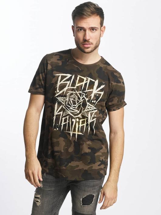 black kaviar rundrun camouflage homme t shirt 355313. Black Bedroom Furniture Sets. Home Design Ideas