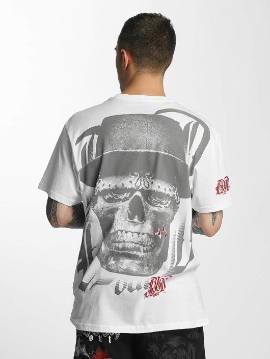Blood In Blood Out T-skjorter Out Skull Hat hvit