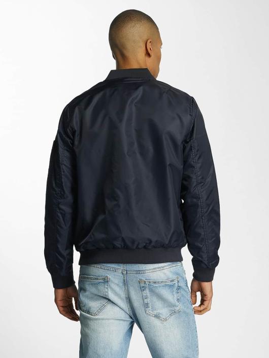 Brave Soul Bomber jacket Nylon Short blue