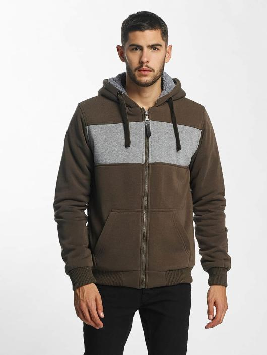 Brave Soul Hoodies con zip Through cachi