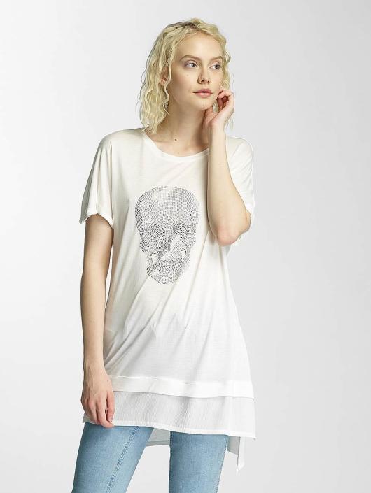 Brave Soul T-Shirt Hotfix Stud Skull beige