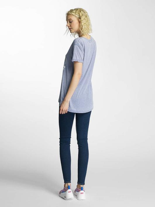 Brave Soul T-Shirt Burn Out V-Neck blau