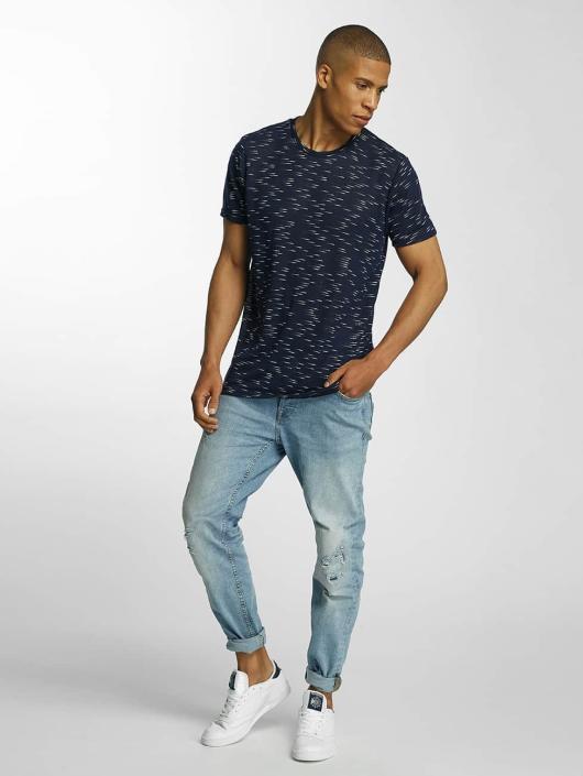 Brave Soul T-Shirt All Over blue
