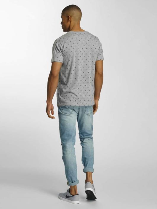 Brave Soul T-Shirt All Over Spider Print grey
