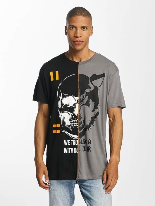 Brave Soul T-Shirt Cut And Sew noir