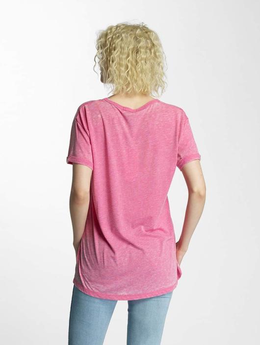 Brave Soul T-Shirt Soul Burn Out V-Neck pink