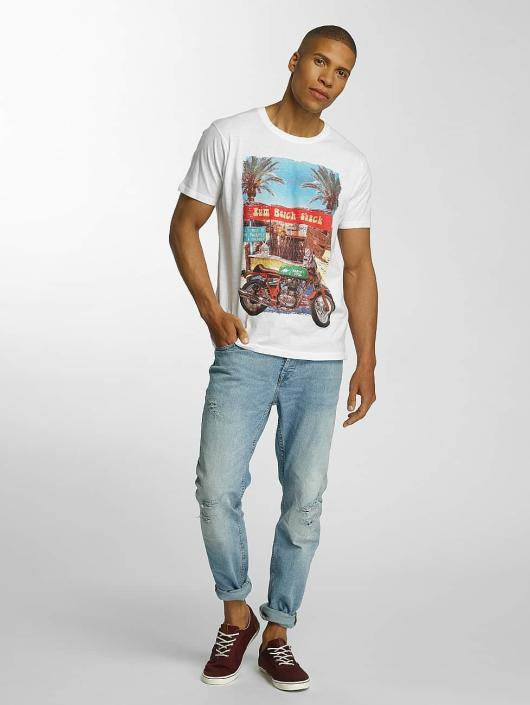 Brave Soul T-Shirty Crew Neck bialy