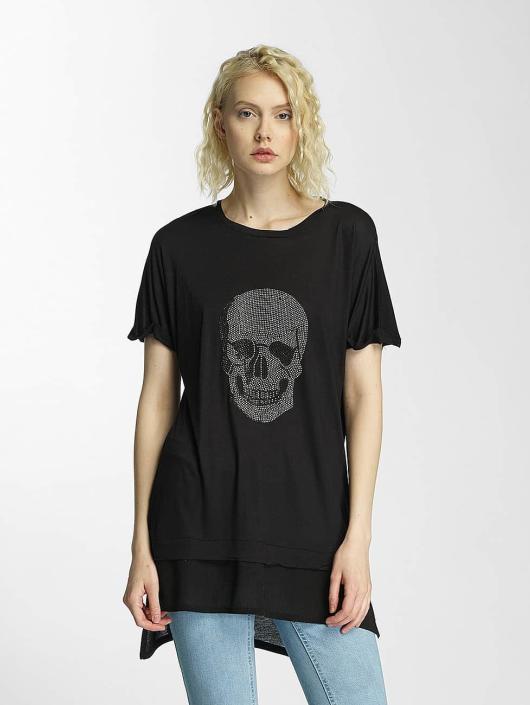 Brave Soul T-Shirty Hotfix Stud Skull czarny