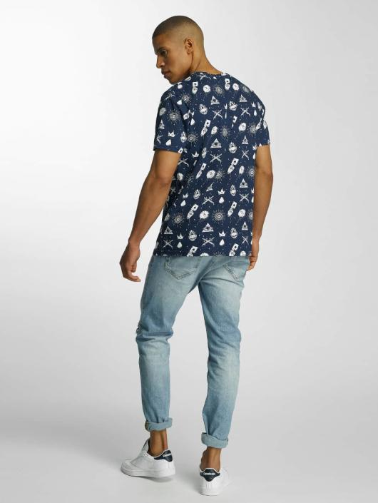 Brave Soul T-Shirty All Over Print niebieski