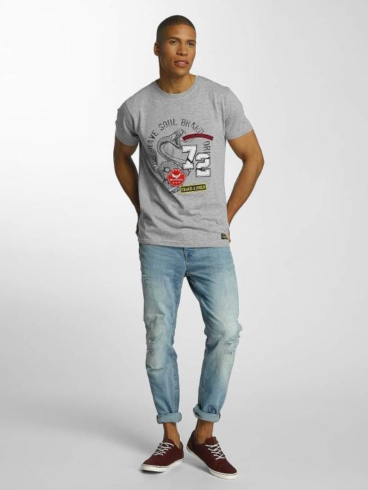 Brave Soul T-Shirty Crew Neck Set szary