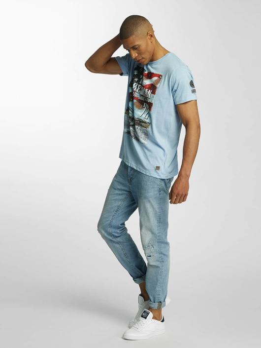 Brave Soul T-skjorter Large Crew Neck blå