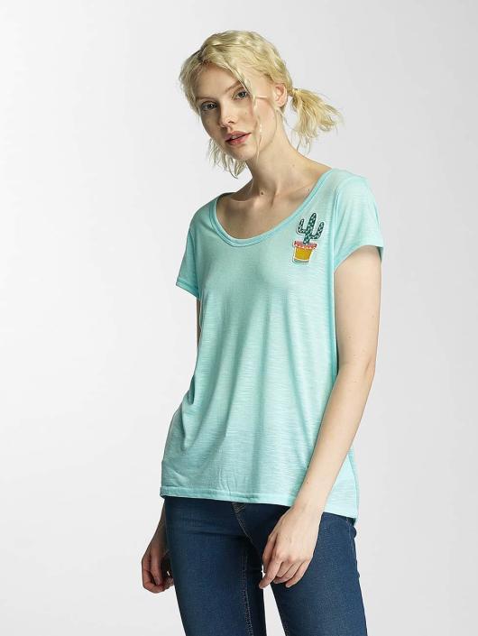 Brave Soul T-skjorter Cactus Badge grøn