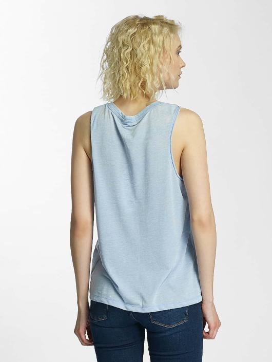 Brave Soul Tank Tops Printed Burn Out blå