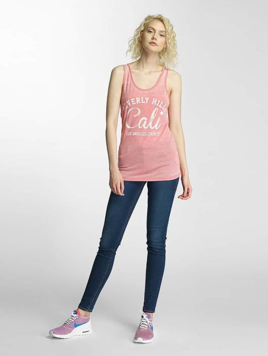 Brave Soul Tank Tops Burn Out roosa