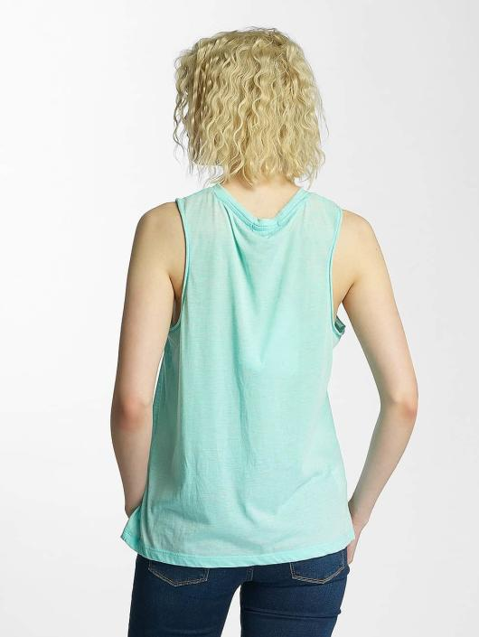 Brave Soul Tank Tops Printed Burn Out zielony