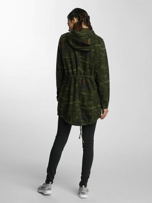 Brave Soul Välikausitakit Hooded Cotton Twill Unlined camouflage