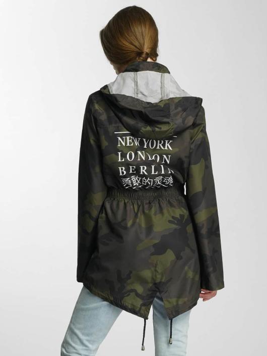 Brave Soul Välikausitakit Polyester Mac camouflage