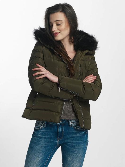 Brave Soul winterjas Brave Soul Fur Collar Winter Jacket khaki