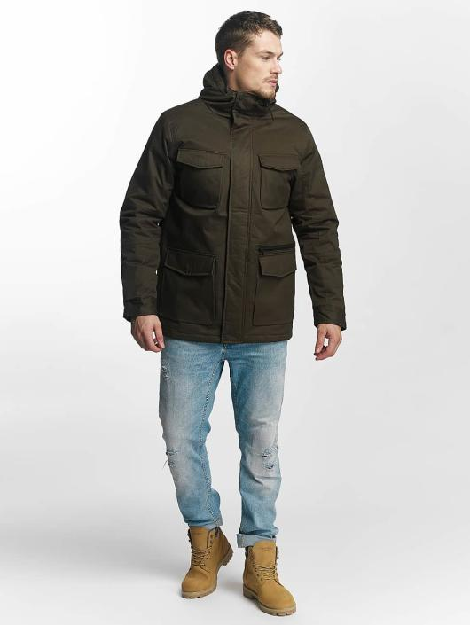 Brave Soul winterjas Brave Soul Winter Jacket khaki